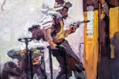 The Train Robbery by Chris Alvarez after NC Wyeth